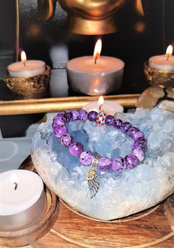 bracelet charoite plume d'ange argent 925