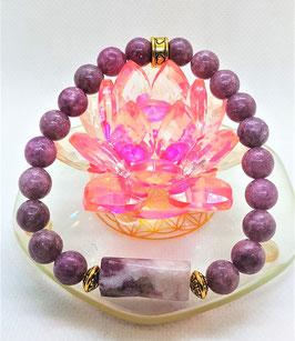 bracelet lepidolite mauve