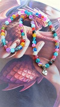 bracelet mala crystal aqua aura