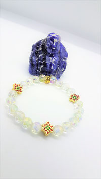 bracelet crystal aqua aura arc en ciel