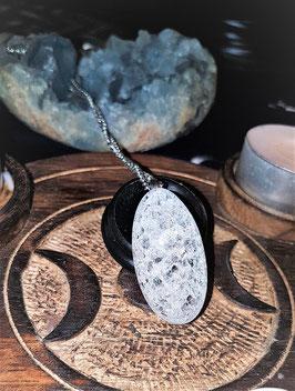 pendentif crystal de roche pierre rouler