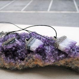 collier pendentif druze geode amethyste