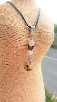 collier pendentif coeur septaria 925
