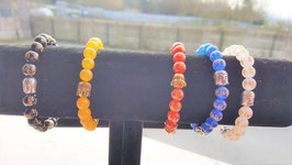 serie bracelet bouddhiste avec bouddha metal pierre agate