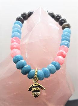 bracelet agate obsidienne oeil celeste
