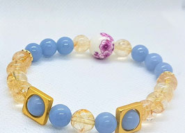 bracelet angelite citrine