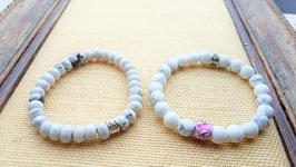 bracelet howlite blanc