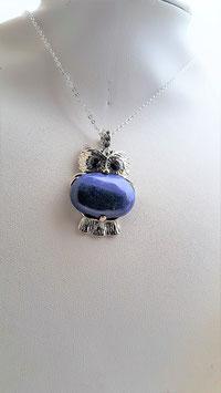 pendentif chouette lapis lazuli