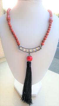 collier jaspe rouge crystal swarovsky