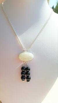 collier boucle d'oreille pierre de lune spinelle