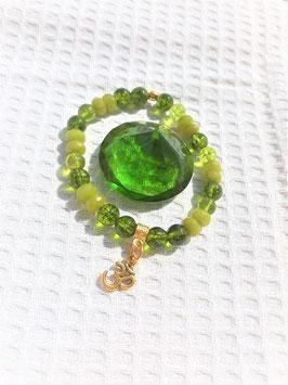 bracelet peridot 3M/boucle d'oreille