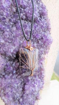 pendentif arbre de vie amethyste