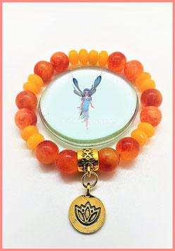 bracelet topaze orange fleur de lotus