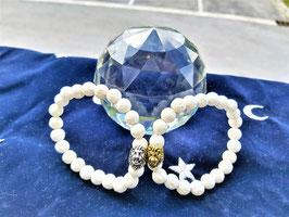 bracelet pierre de lave blanche naturel tete de lion