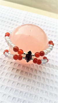bracelet double swarovsky aqua aura