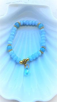 bracelet aigue marine crystal swarovsky