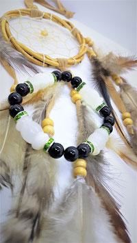 bracelet onyx blanc et noir