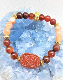 bracelet cornaline pierre du soleil