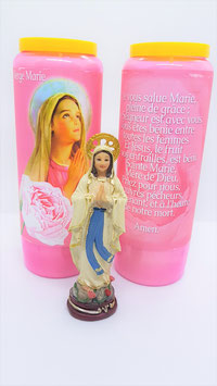 bougie neuvaine vierge marie