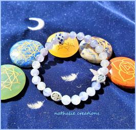 bracelet iolite bleu crystal naturel