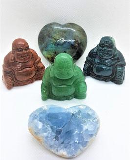 bouddha figurine mineraux