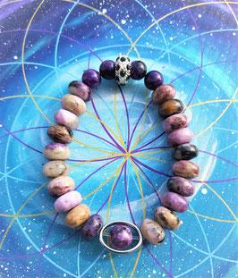 bracelet rondelle charoite