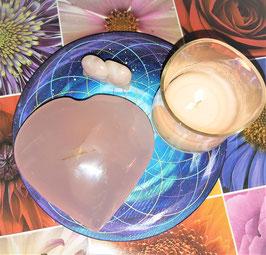 coeur quartz rose 712 g