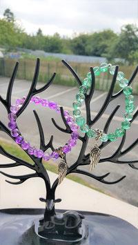bracelet crystal quartz mystic aqua aura craqueté