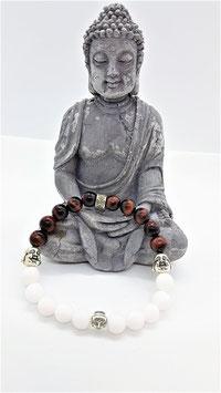 bracelet oeil de taureau jade blanc