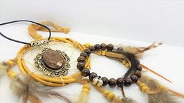 creations bronzite pendentif bracelet
