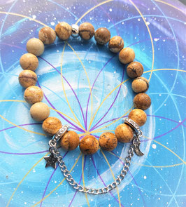 bracelet lunaire jaspe paysage