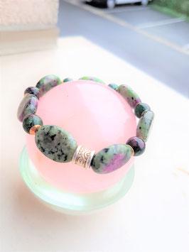 bracelet zoisite ronde / ovale
