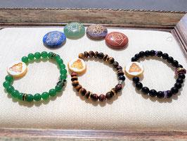 bracelet perle jaspe naturel bouddha graver