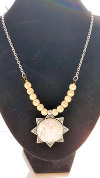 collier etoile perle howlite blanche