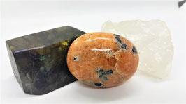 pierre rouler calcite naturel