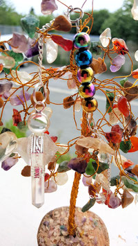 pendule crystal de roche aqua aura