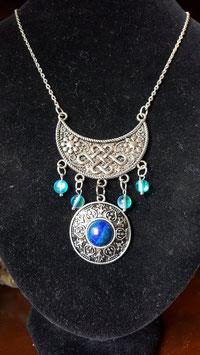 collier celtique aqua lapis lazuli