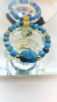bracelet apatite pierre brute centrale qualiter AAA
