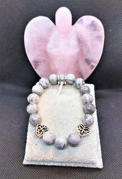 bracelet jaspe picasso gris