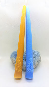 cierge incrustations sur bougie 22,5 cm