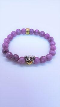 bracelet tourmaline rose naturel