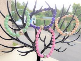bracelet magnesite blanche ou rose