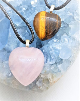 pendentif coeur mineraux