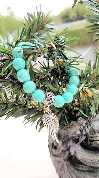 bracelet pierre de turquoise aile d'ange