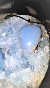 pendentif angelite 3,5 x 2,5 cm