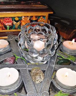 bougeoir crystal epais