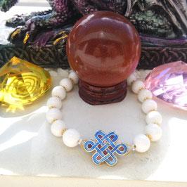 bracelet agate noeud celtique