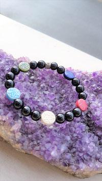 bracelet onyx pentacle