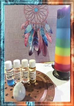 huile turquoise,aqua aura,camphre,vetivert