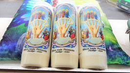 bougie neuvaine mains puissantes